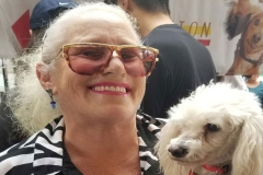 Former Homeless woman Diana rescues homeless dog Goya