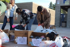 The Acts of Kindness homeless clothing drive drop boxes were overflowing