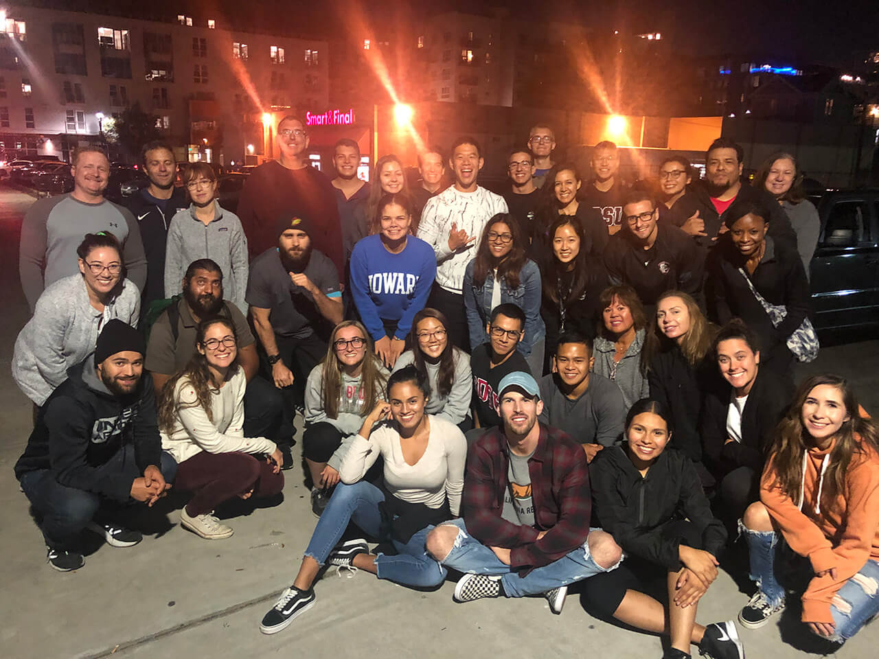 San Diego State University Air Force ROTC Cadets Feed Homeless in downtown San Diego