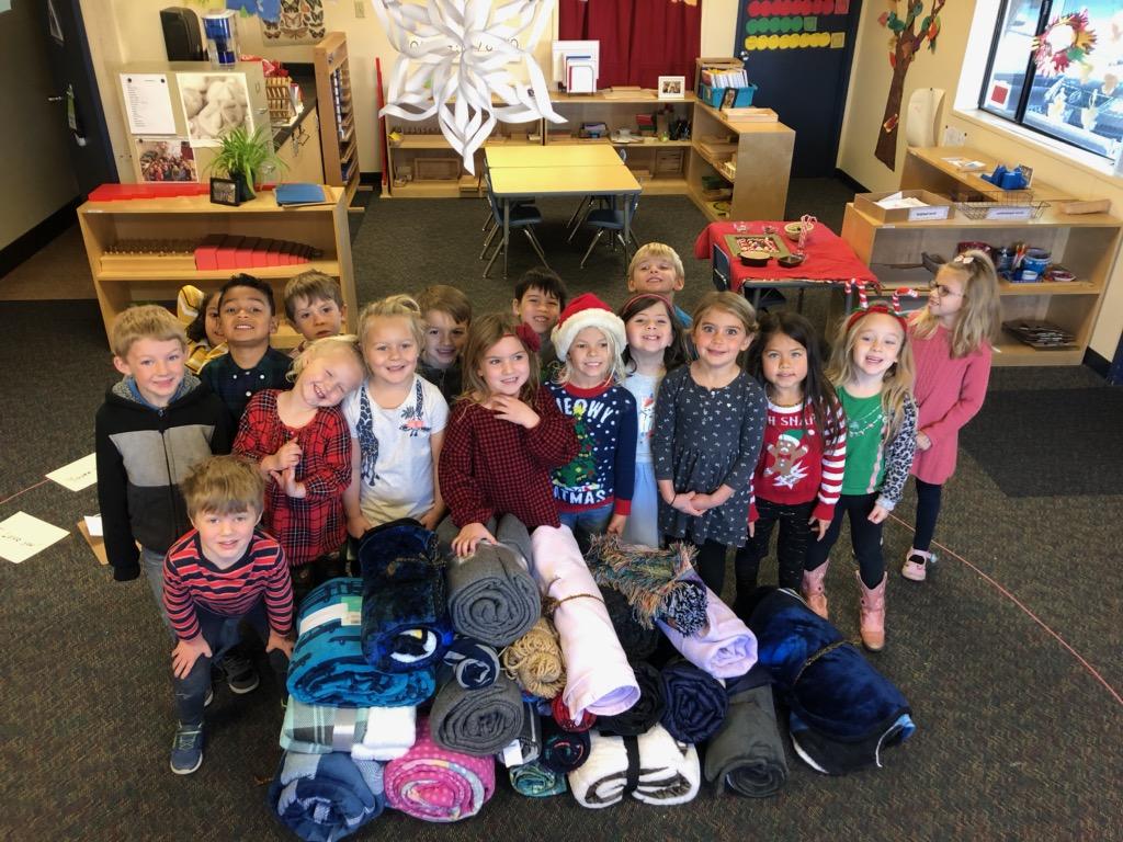 Community Montessori Charter Kids Help the Homeless