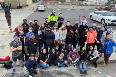 Volunteer group photo from our Homeless Special Event where we gave out 50 tents and 100 sleeping bags