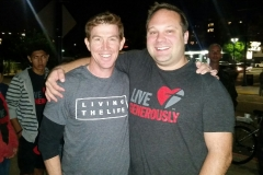 Parker and Dave serving the homeless in San Diego!