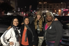 Streets of Hope volunteers happy to feed the homeless during Christmas.