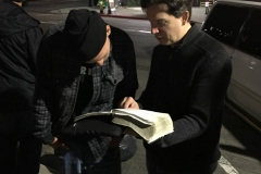 Dan shows Jonathan, a San Diego homeless man, a bible scripture about real joy.
