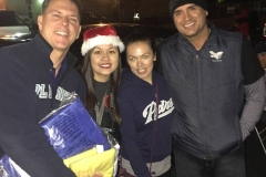 Derek, Tammy, Julie and Eric of the Streets of Hope San Diego Christmas Event.