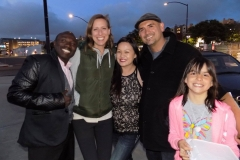 Conrad, Anne, Tammy, Eric and a homeless girl on the streets of San Diego.