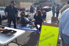 Donuts for the homeless and clothing donations for homeless women on Easter.