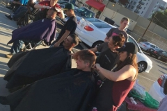 Everyone working together on Easter to help San Diego's homeless get hair cuts