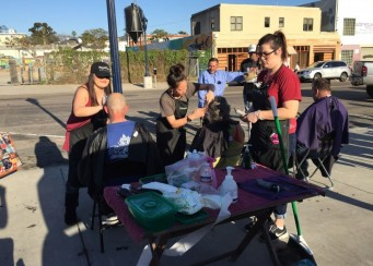 San Diego Homeless Hair Cutting Event 1-26-2015 – Streets of Hope