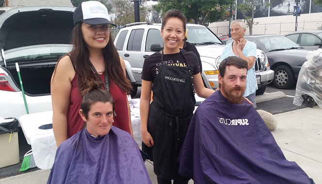 Thanks for San Diego Homeless Outreach Special Hair Cutting Event 9-21-2015 – Streets of Hope