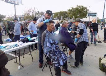 Special Homeless Hair Cutting Event Monday 6-27-2016