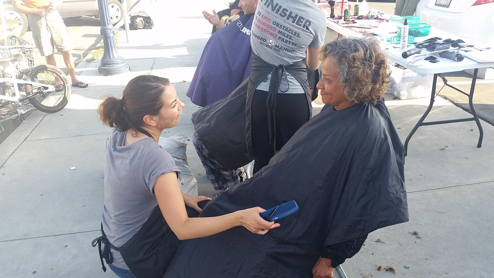 Special Thanks San Diego Homeless Hair Cutting Team