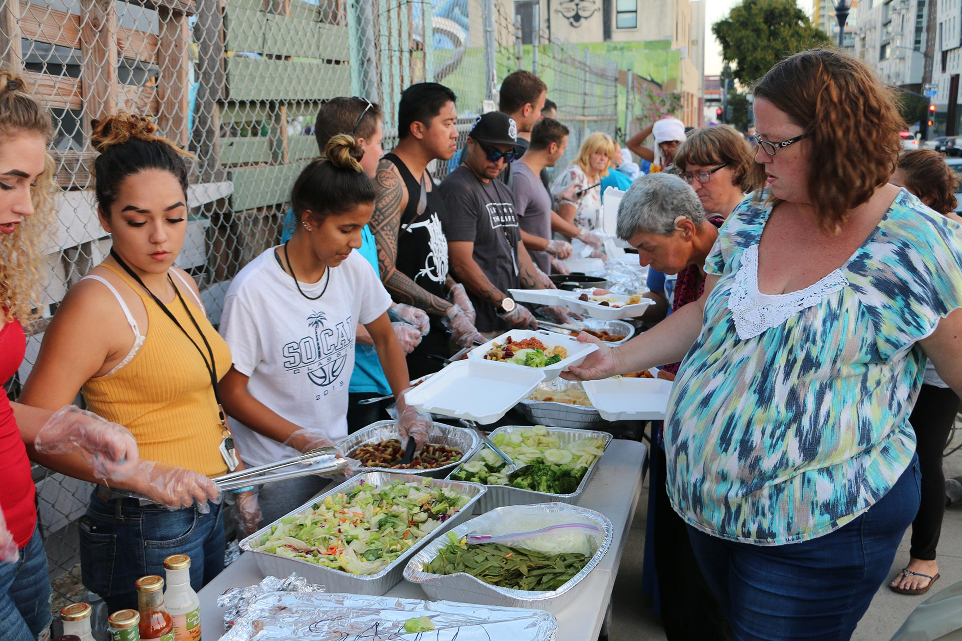 Feeding Clothing Massaging Adjusting San Diego's Homeless – Special Thanks