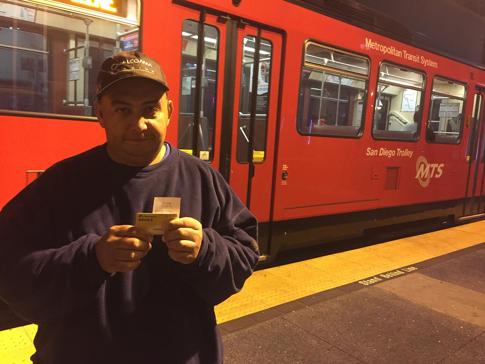 San Diego Homeless Bus Pass Given to David
