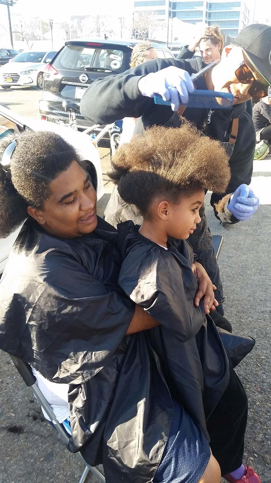 Homeless Girl Lauren Gets Her First Haircut