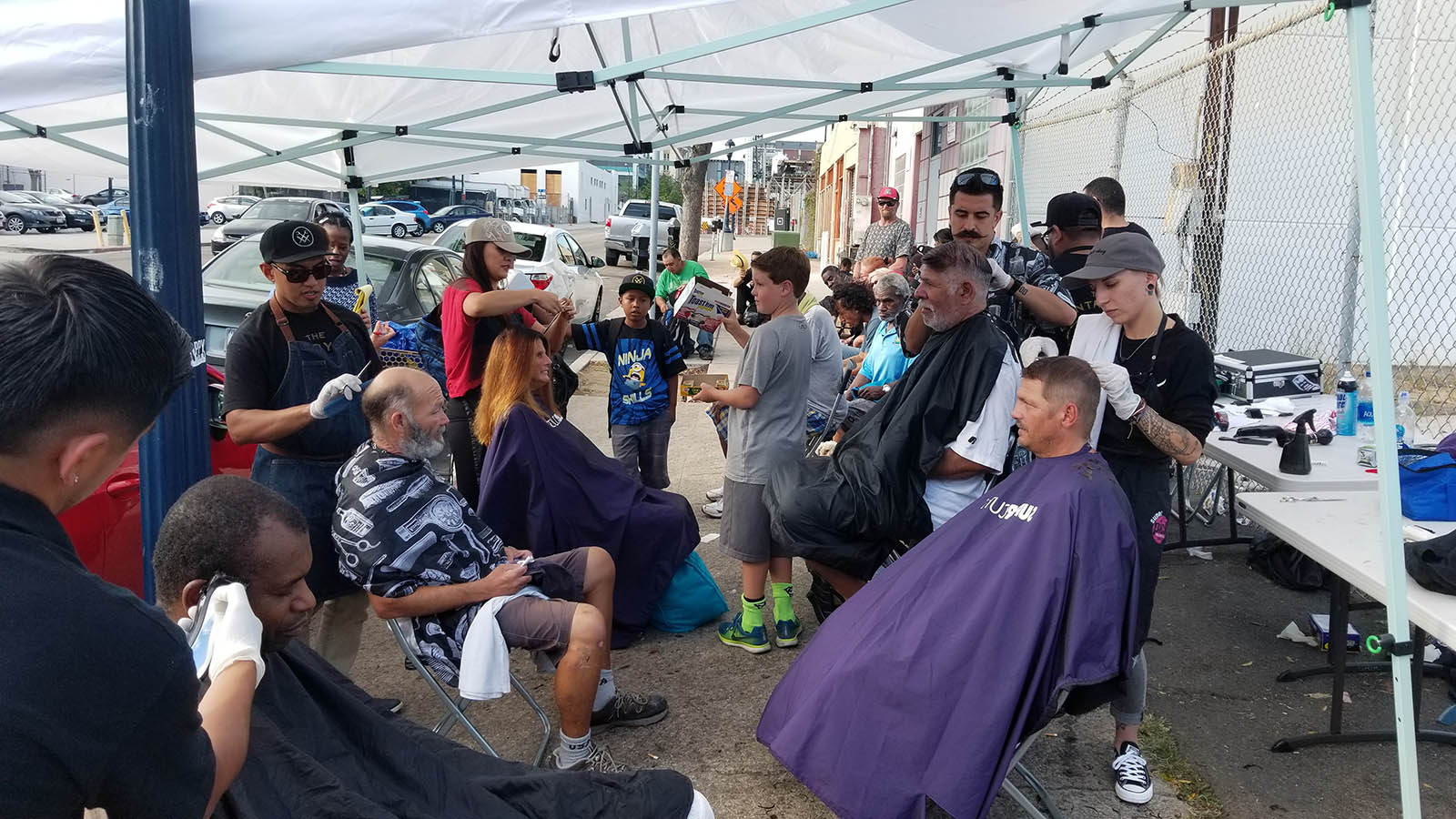 Volunteer Thanks for our Special Summer Event Feed Clothe Cut Hair Downtown Homeless