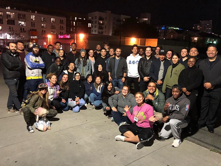 UCSD Alpha Phi Omega Feeds the Homeless in San Diego