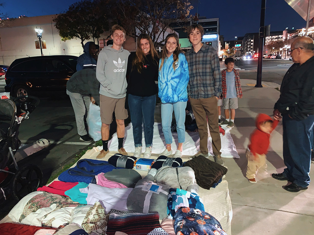 Horizon Prep School Holds Blanket Drive for the Homeless