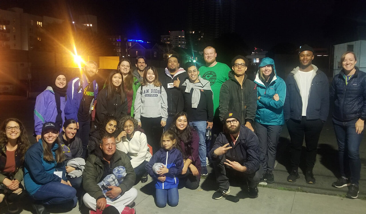 Sierra Service Project Joins Streets of Hope Monday Night to Serve the Homeless