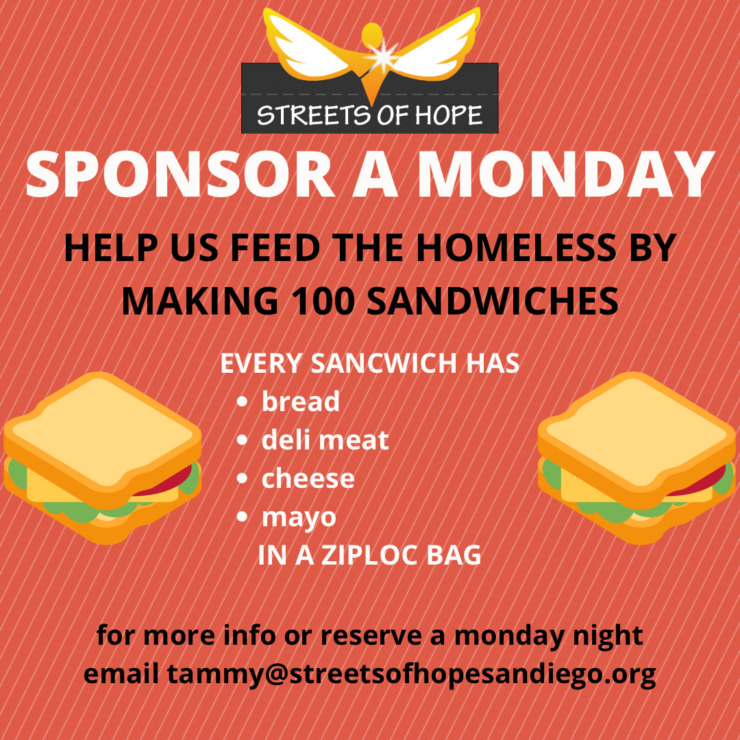 Sponsor a Monday Night feeding the homeless