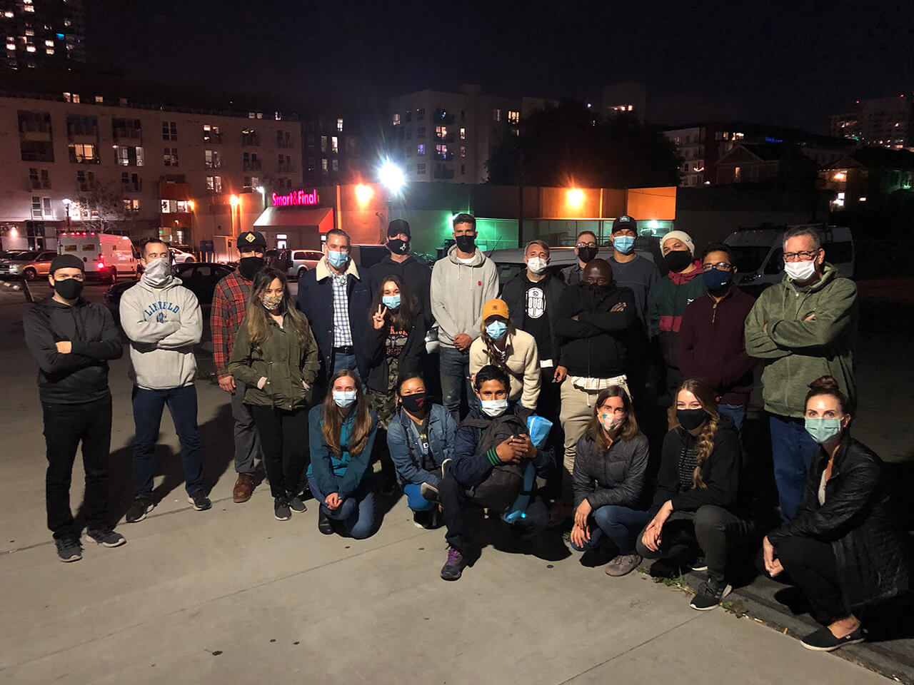 San Diego's Professional Soccer Team SD Loyal Feeds the Homeless