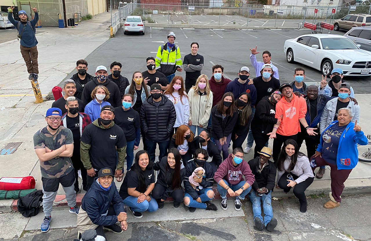 San Diego Homeless Haircutting with SDSU Helping the Homeless and Korean UMC – Thank You