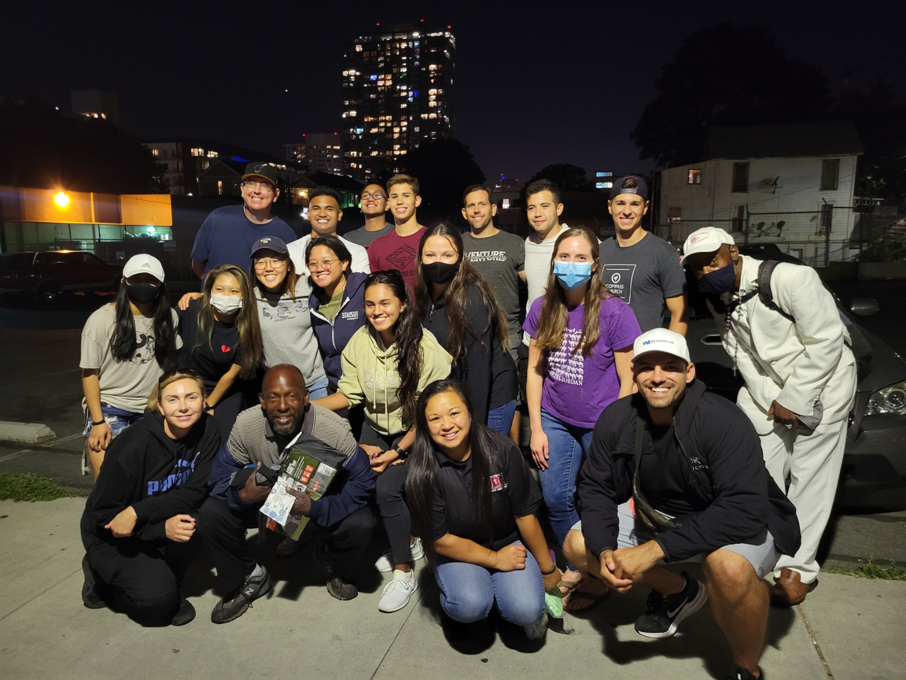 SDSU Air Force ROTC Helping the Homeless on the Streets of San Diego
